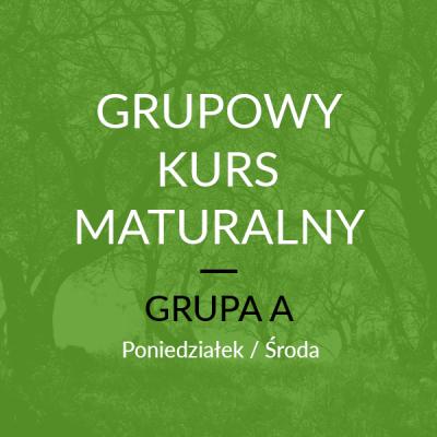 Grupowy Kurs Maturalny – A Start: 16 Października